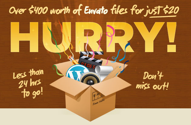 Birthday Bundle! Over $400 worth of Envato files for just $20 - Less than 24 Hours to go!